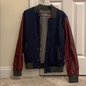 Faux leather sleeve Varsity jacket from Pacsun